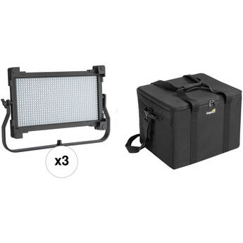 Genaray Spectro LED 800D1 Daylight LED 3-Light Kit with Bag