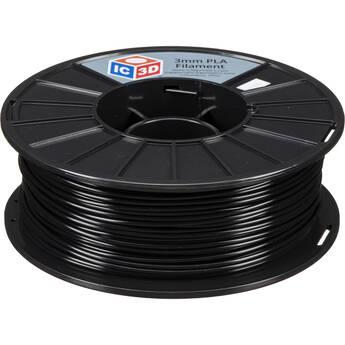 IC3D Industries 2.85mm PLA Filament (1kg, Black)