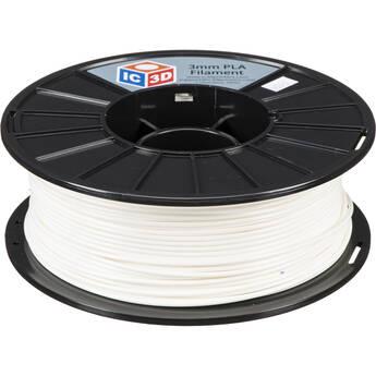 IC3D Industries 2.85mm PLA Filament (1kg, White)