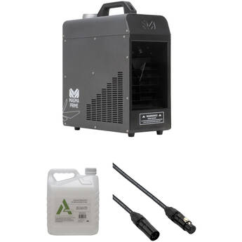 Elation Professional MAGMA PRIME 700W Haze Machine Kit with Fog Fluid and DMX Cable