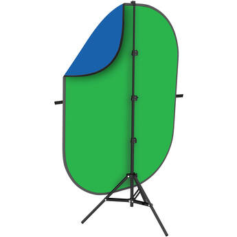 Angler Collapsible Background Kit (5 x 7', Chroma Blue/Green)