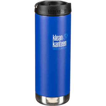 Klean Kanteen TKWide 16 oz Insulated Bottle with Cafe Cap (Deep Surf)