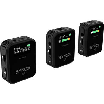 Synco WAir-G2-A2 Ultracompact 2-Person Digital Wireless Microphone System for Mirrorless/DSLR Cameras (2.4 GHz)