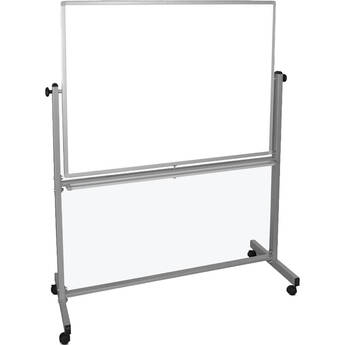"""Luxor MB4836WW Mobile Magnetic Reversible Whiteboard (48 x 36"""")"""