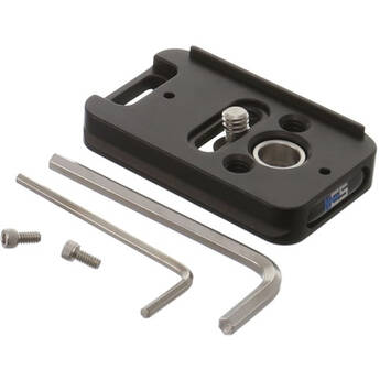 Kirk PZ-17 Universal Camera Plate with QD Port for Select Canon, FUJIFILM, Nikon, and Sony Cameras