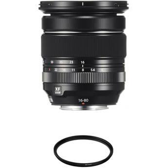 FUJIFILM XF 16-80mm f/4 R OIS WR Lens with UV Filter Kit