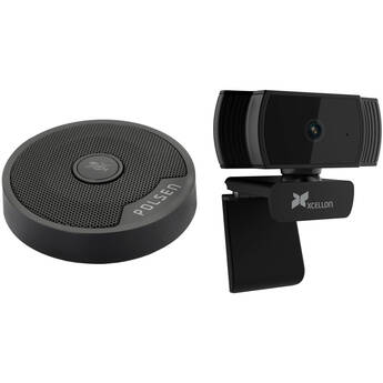 Polsen Video Conferencing Kit with US-OB-33 USB Mic and HD Webcam