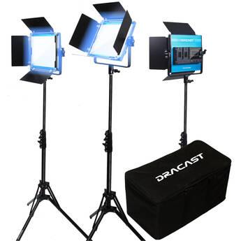 Dracast LED500 X Series Daylight LED 3 Light Kit with Nylon Padded Travel Case