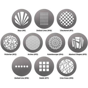Westcott Pattern Gobo Pack by Lindsay Adler for Optical Spot (10-Pack)