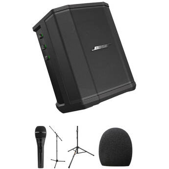 Bose S1 Pro Performance Kit with Speaker Stand, Microphone, Mic Stand, and Accessories