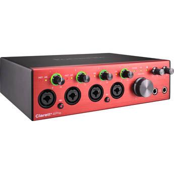 Focusrite Clarett+ 4Pre Desktop 18x8 USB Type-C Audio/MIDI Interface