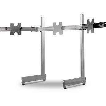 Next Level Racing Elite Freestanding Triple Monitor Add-On for Single Monitor Stand (Carbon Gray)