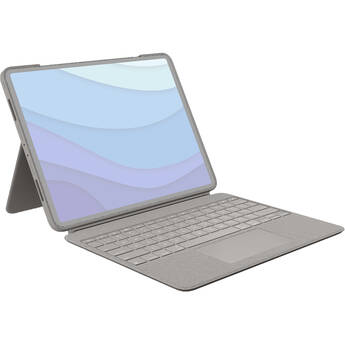 """Logitech Combo Touch Keyboard/Cover Case for 12.9""""Apple,Logitech,iPad Pro(5th Generation) Tablet (Sand)"""