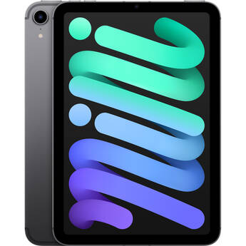 "Apple 8.3"" iPad mini (6th Gen, 256GB, Wi-Fi + 5G LTE, Space Gray)"