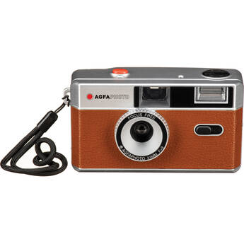 AgfaPhoto Analog 35mm Reusable Film Camera (Coffee Brown)
