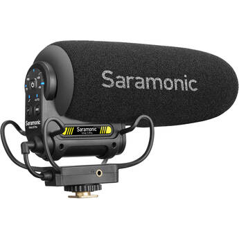 Saramonic Advanced Supercardioid Mini Shotgun Condenser On-Cam Video Mic,XLR Cable,Foam/Furry Windscreens