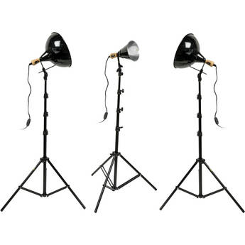 Impact Tungsten Three-Floodlight Kit with Stands