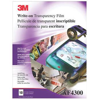 """3M Write-On Film AF4300 (8.5 x 11"""", 100 Sheets)"""