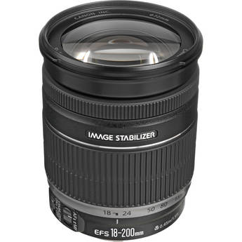 Canon EF-S 18-200mm f/3.5-5.6 IS Autofocus Lens for Select Digital SLR Cameras