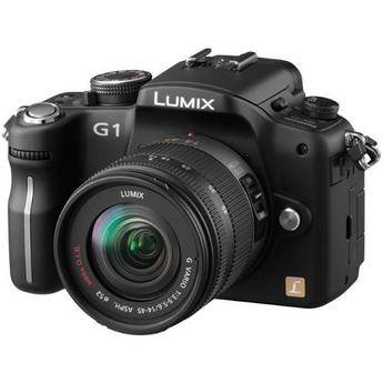Panasonic Lumix DMC-G1 SLR-Style Digital Camera (Black) with 14-45mm Lens