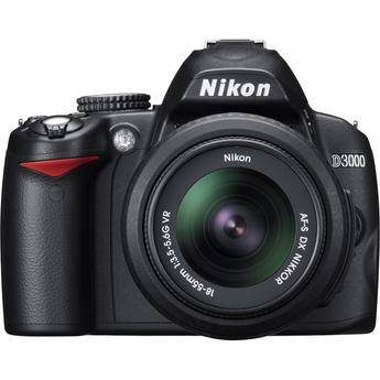 Nikon D3000 SLR Digital Camera with 18-55mm VR Lens