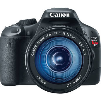 Canon EOS Rebel T2i Digital SLR Camera w/ EF-S 18-135mm f/3.5-5.6 IS Lens
