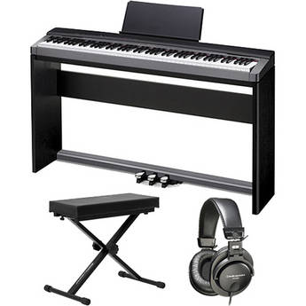 Casio Privia PX-130 88-Key Portable Digital Piano Home Bundle