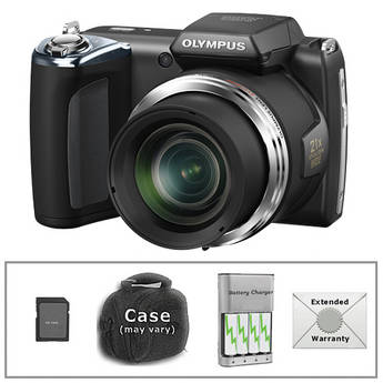 Olympus SP-620UZ Digital Camera with Deluxe Accessory Kit (Black)