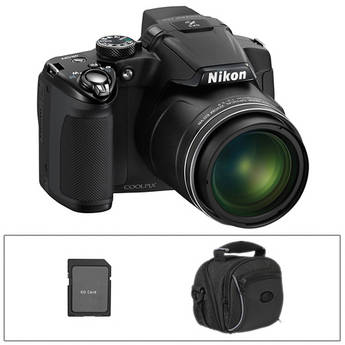 Nikon Coolpix P510 Digital Camera (Black) with Deluxe Accessory Kit