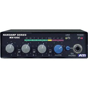 ATI Audio Inc MX-100C 3-Channel Field Audio Mixer with Limiter