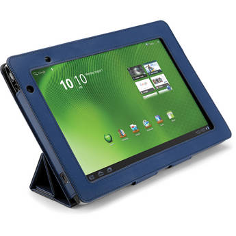 Acer A500 Foldable Leather Case (Blue)