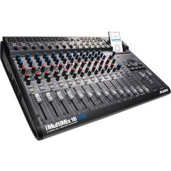 Alesis iMultiMix 16 USB - 16 Channel Recording/Sound Reinforcement Mixer with iPod Doc