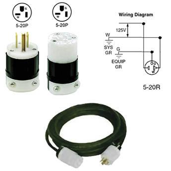 Altman Extension Cable, 2-Pin Plus Ground Edison Connectors, 20 Amp - 15'