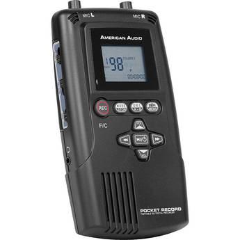American Audio Pocket Record Portable Digital Audio Recorder