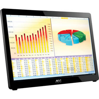 "Aoc E1649FWU 16"" Widescreen LED Backlit Portable LCD Monitor"