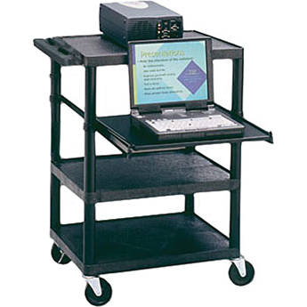 Apollo TPW35E Multimedia Projector Cart with Laptop Shelf