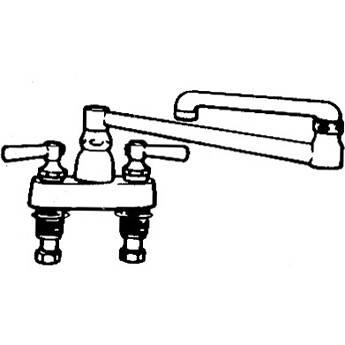 Arkay K-200D-J Hot & Cold Double Joint Swing Deck-Mount Faucet