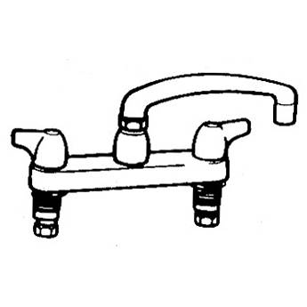Arkay K-200D Hot & Cold Swing Deck-Mount Faucet