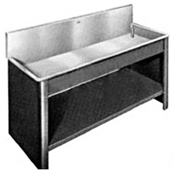 "Arkay Black Vinyl-Clad Steel Cabinet for 18x96x10"" for Steel Sinks"