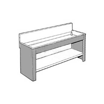 "Arkay Black Vinyl-Clad Steel Sink Stand for 42.5x69x6"" Steel Sinks"