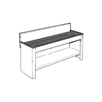 """Arkay Economy Stainless Steel Photo Processing Sink(24x84x6"""")"""