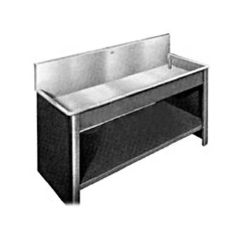 "Arkay Premium Stainless Steel Photo Processing Sink Series SQP (18x48x6"") with 9"" Backsplash & Square Corners"