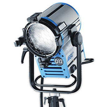 ARRI True Blue D12 HMI 1200W Black Fresnel Head (120VAC)