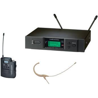 Audio-Technica ATW-3192 Wireless UHF Body-Pack System with Headworn Microphone (Beige)