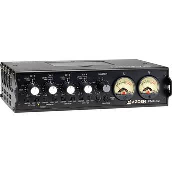 Azden FMX-42 4-Channel Microphone Field Mixer