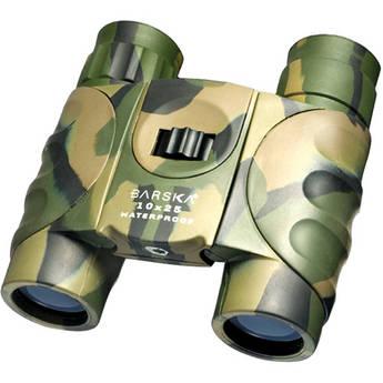 Barska 10x25 WP Atlantic Binocular (Clamshell Packaging, Camouflage)