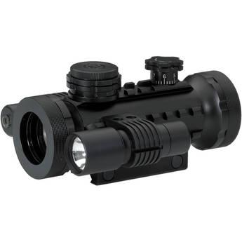 BSA Optics 30mm Illuminated Red Dot Sight with Laser and Light