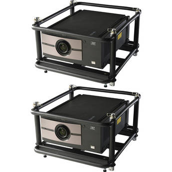 Barco (2) RLM-W8 w/ RLD W 1.45-1.74:1 Lens/Spare Lamp/Stacking Frame