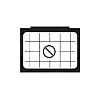 Beattie Intenscreen Split Image Diagonal Grid for Nikon F3