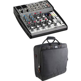 Behringer XENYX 1002FX 10-Channel Mixer with Padded Bag Kit